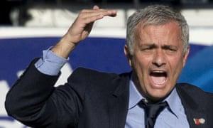 Jose Mourinho shouts