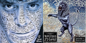 On song … designs for Lou Reed and the Rolling Stones by Stefan Sagmeister, the Austrian aiming to solve life's problems.