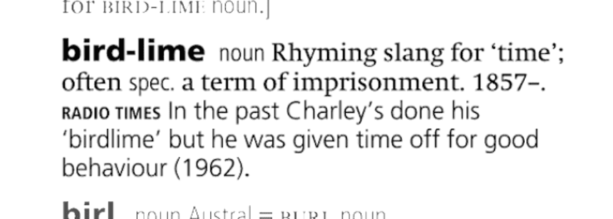 "The etymology of the prison slang ""bird"""