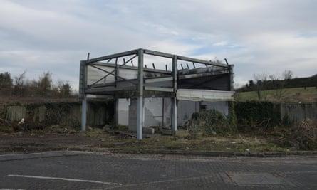 A derelict British customs checkpoint in Newry, Northern Ireland.