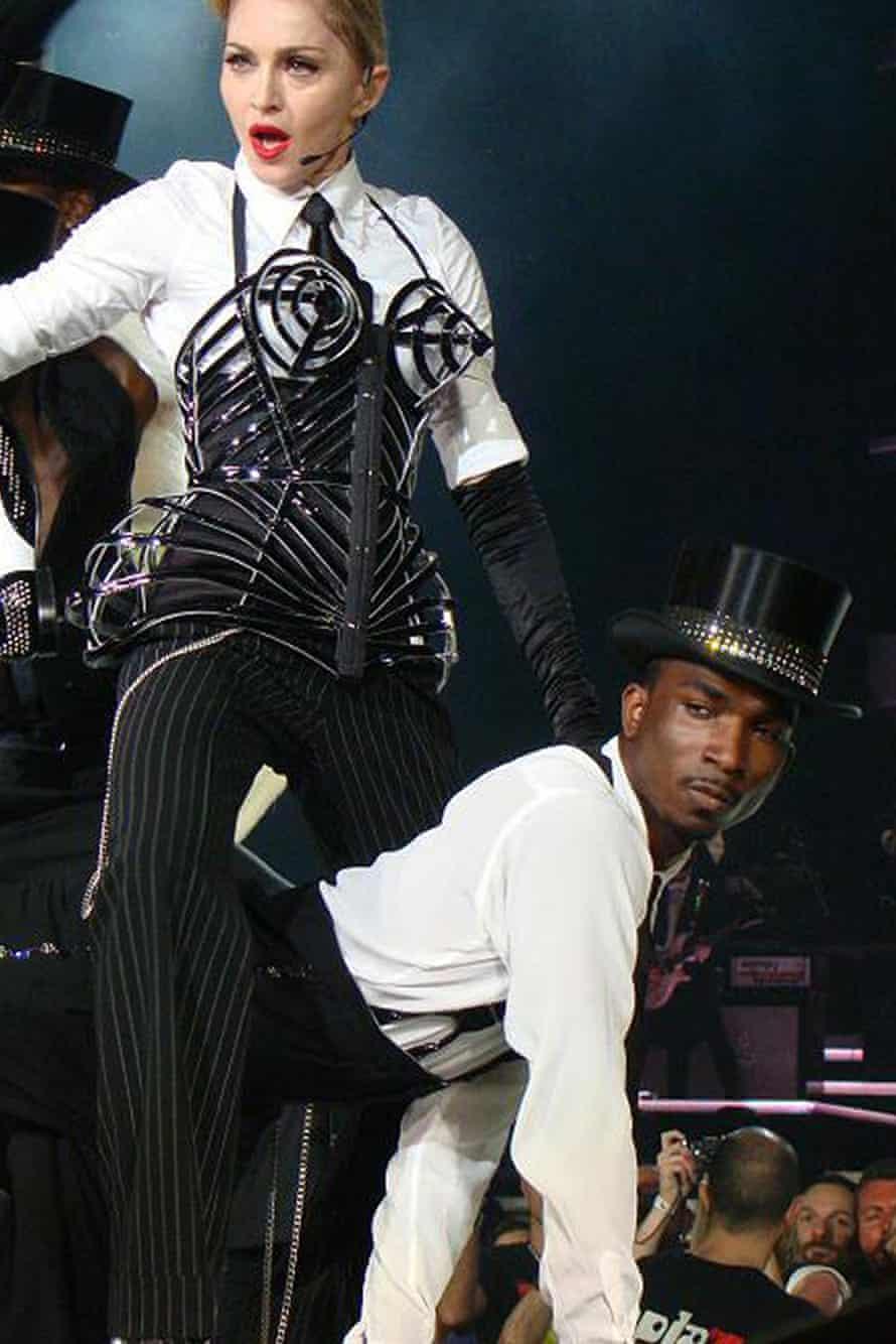 Andrew 'Drew Dollaz' Boyce with Madonna