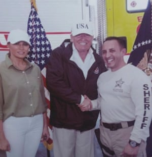 Marceno with Donald and Melania Trump during a presidential visit to Florida.
