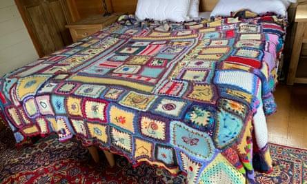 Sarah Rowe's patchwork blanket