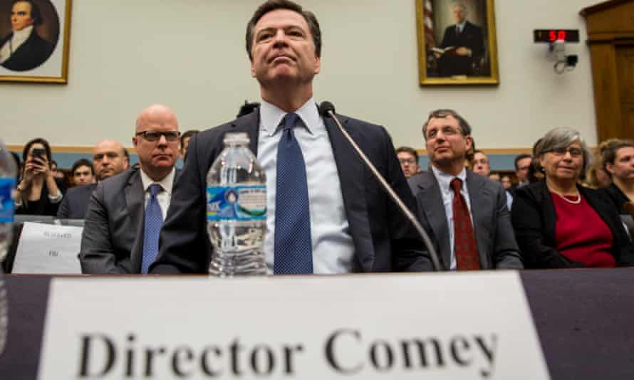 FBI director James Comey testifies at a house judiciary committee hearing on encryption in Washington on 1 March.