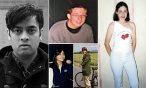 Priya Elan, Will Dean, Nosheen Iqbal, Morwenna Ferrier and Leah Harper all dressed to impress in their teenage years.