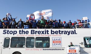 The March to Leave the EU, from Sunderland to London, on 29 March.