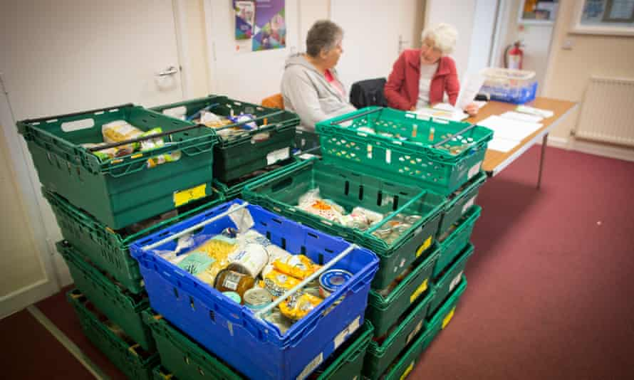 Food banks have become standard in many parts of the UK.