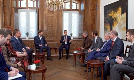 Bashar al-Assad and politicians