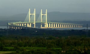 South Wales seen from the English side of the Severn crossing.
