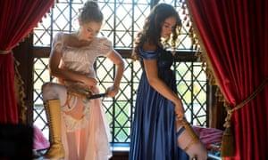 Preparing for battle … Bella Heathcote as Jane Bennet and Lily James as Elizabeth.