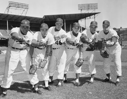The Brooklyn Dodgers at the start of the 1955 World Series