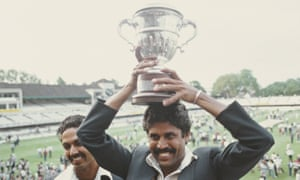 India's Kapil Dev lifts the World Cup at Lord's in 1983