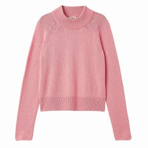 pink knitted crew neck jumper Weekday