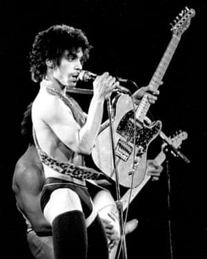 Prince performing in Detroit, December 1980