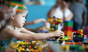 Children Should Learn Mainly Through Play Until Age Of Eight Says - Clever print ads from lego show children building their own future