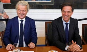 Geert Wilders and Dutch prime minister Mark Rutte