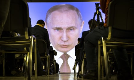 Vladimir Putin gives his address