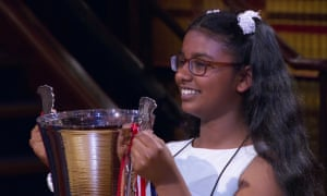 Nishi Uggalle, newly crowned champion of Channel 4's Child Genius.