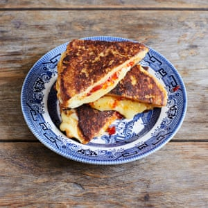 Liam Charles' chilli cheese toastie.