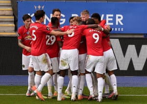 Bruno Fernandes of Manchester United celebrates after scoring.
