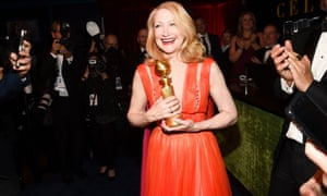 Patricia Clarkson at the 2019 Golden Globes: she thanked her director for not demanding sex.