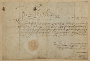 A document signed by Elizabeth I.