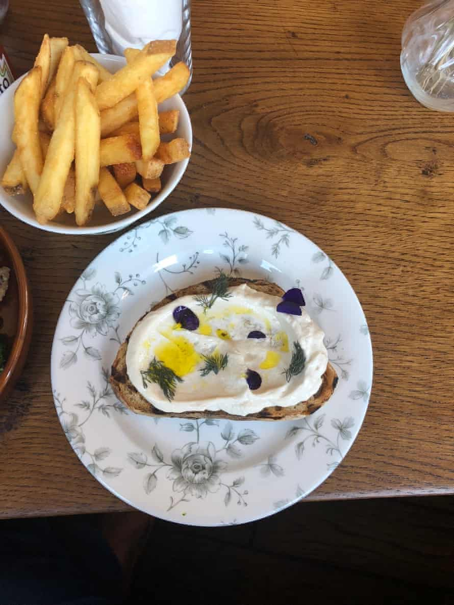 Cod's roe on sourdough and many many bowls of chips at the beautifully restored Coach & Horses, in Leyton, London E10