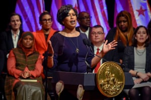 Mayor Muriel Bowser delivers her State of the District address, on March, 18, 2019 in Washington, DC.