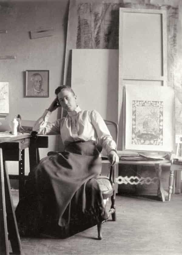 Hilma af Klint in her Stockholm studio in about 1895