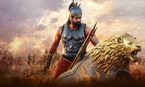Stills from the big budget Tollywood blockbuster Baahubali