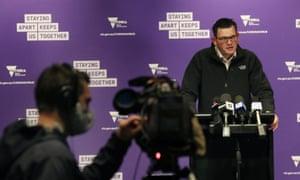 Victorian premier Daniel Andrews provides a coronavirus update on Saturday