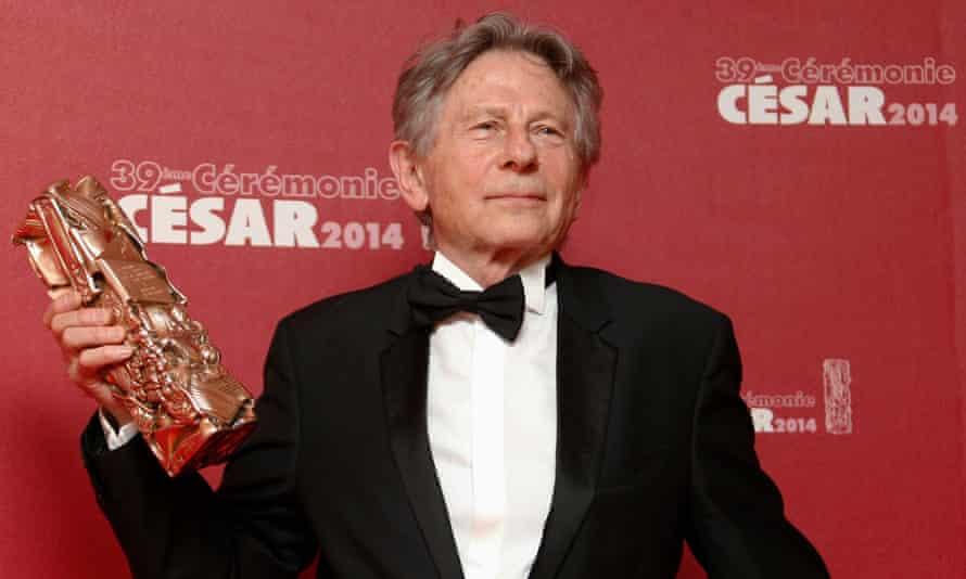 Roman Polanski collects the best director award for La Vénus à la Fourrure (Venus in Fur) at the 2014 César awards ceremony in Paris.