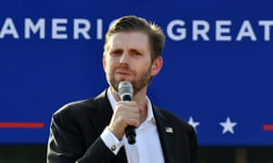 Eric Trump has been campaigning on behalf of his father