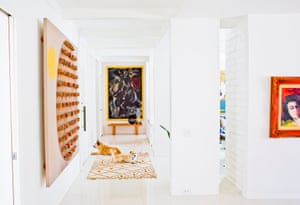 """Lulu (L) And Farley: Mixed Breeds, Rescues Architect: Stan Sackley, 1965 """"They bring spirit and life to our home! Otherwise—just a couple of guys living in a white box!"""""""