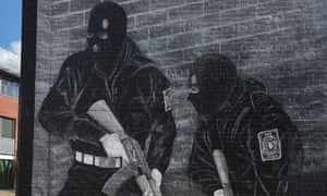 A loyalist paramilitary mural in Belfast, Northern Ireland