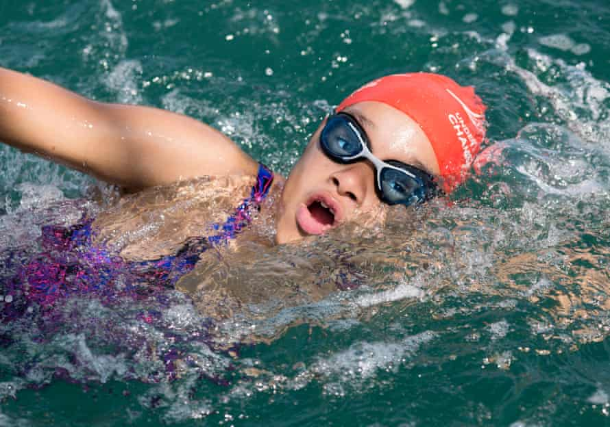 Sasha during her second swim