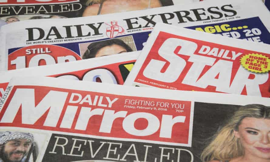 daily express, daily star and mirror newspapers.