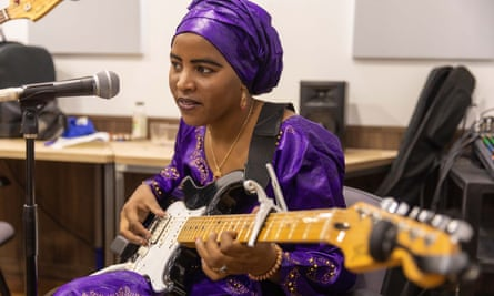 Fatou Seidi Ghali … sneaked off to play the guitar.