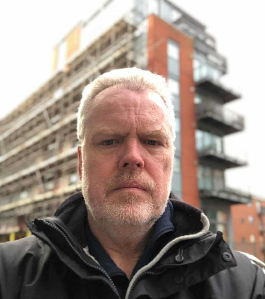 Brian Simpson outside his Birmingham flat.