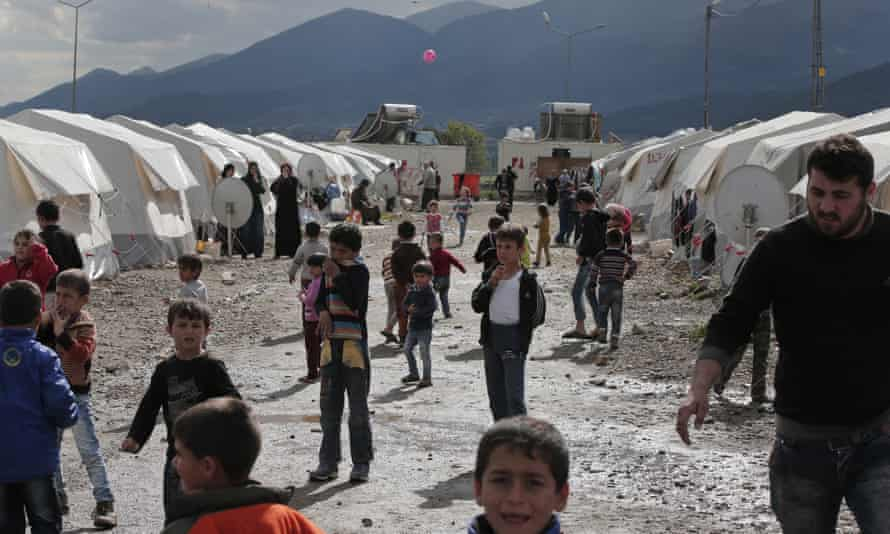 Syrian refugees at Islahiye, south-east Turkey.