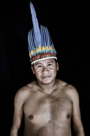 Amarildo Mota, 33, from the Macuxi tribe in Uiramutã