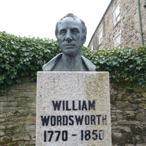 Bust of Wordsworth in Cockermouth