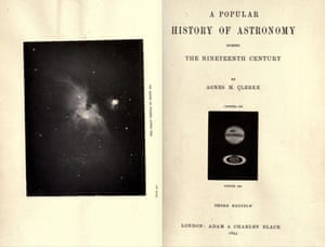 Title page of Agnes Clerke's Popular History of Astronomy