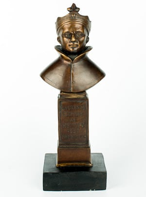The Olivier award statuette.