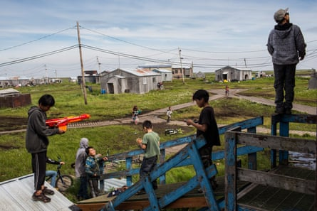 The small coastal town of Newtok in Alaska received $15m in federal funding last year to start moving houses to safer ground, although the fate of other at-risk towns remains unclear.
