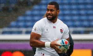 Joe Cokanasiga during a training session before the Rugby World Cup semi-final against New Zealand