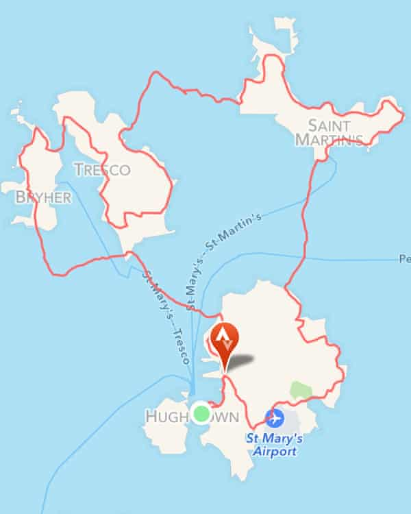 Strava map of Isles of Scilly