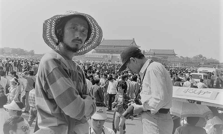 Ma Jian in Tiananmen Square, 1989