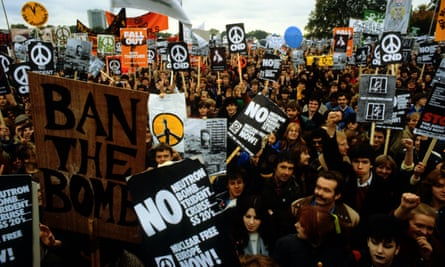 Anti-nuclear protesters in London, 1982