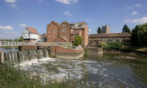 The Abbey Mill in Tewkesbury on the River Avon, where low water levels have been recorded after a dry winter and early spring.